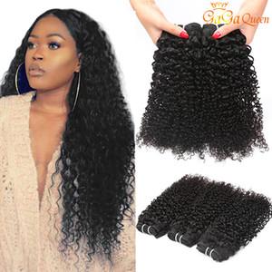 Indien Kinky Curly Vierge Vierge Cheveux Humains Tisseux Grade 8A Indienne Curly Cheveux Bundles Naturel Couleur Grossiste Cheveux De Remy Indien