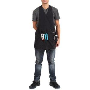 87X56 cm Pro Salon Roupas de Trabalho Barbeiro cômoda vestir Cabo De Corte Avental Household Pano Cintura estilista ferramentas