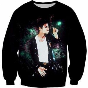 New Fashion King of Pop Michael Jackson Divertente stampa 3d Felpe fumatori Abbigliamento moda Donna Uomo Felpa Pullover casual K104
