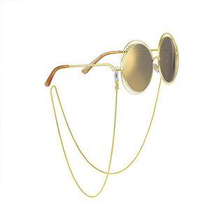 2017New retro-vintage paslanmaz güneş gözlüğü okuma gözlükleri yılan zinciri solmaz anti-kayma halat boyun kordon tutucu silikon döngü gümüş altın
