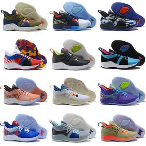 Haute qualité Paul George 2 PG II Chaussures De Basketball pour Pas Cher top PG2 2S Starry Bleu Orange Tout Blanc Noir Baskets De Sport Taille 40-47