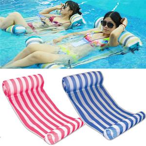 3 Farben Sommer Schwimmbecken Aufblasbares Schwimmwasser Hammock Lounge Liegesessel Sommer aufblasbares Pool Float Schwebebett