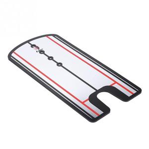 Golf Putting Mirror Golf Club وضع سوينغ محاذاة مرآة الموقف تصحيح التدريب الايدز الملحقات 31 × 14.5 سم
