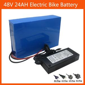 Batería de litio eléctrica recargable de la bici de 1000W 48V 24AH con la célula del uso ICR18650-30B del cargador de la caja 54.6V 2A del PVC de 30A BMS