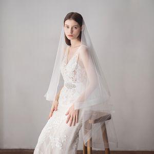 2018 Nuovo Design Cheap Wedding Morbido Tulle Velo da sposa Veli bianchi di alta qualità per matrimonio CPA1431