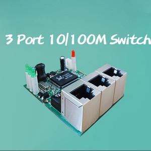OEM fabricante empresa venda direta chip Realtek RTL8306E mini 10/100 mbps rj45 lan hub 3 porta placa ethernet interruptor pcb