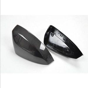 Per Audi A3 S3 2014 2015 2016 - UP 1: 1 Stile di sostituzione Adesivo in stile 3D Coperchio per specchietto retrovisore in fibra di carbonio Nero lucido