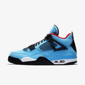 TOP Version Factory 4 Noir Bleu Blanc avec des lettres de basket-ball Chaussures entraîneurs des hommes nouveaux 2018 Chaussures de sport avec la boîte de Michael Sport