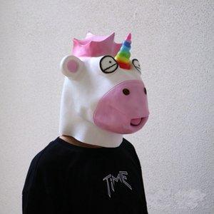 Güzel Unicorn Maske Karikatür Tam Yüz Hayvan Maskeleri Sigara Toksik Kafa Kapak Cadılar Bayramı Partisi Için Yeni Varış 40 ...