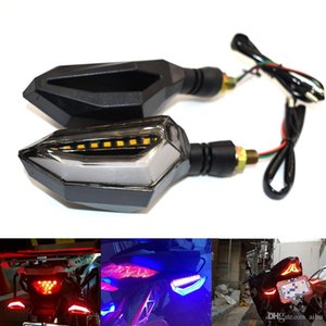 2 adet Modifiye Yanıp Sönen Motosiklet Dönüş Sinyalleri Göstergeler Işık 12 V Dekoratif Işıklar Flaş LED Direksiyon Lambası Motosiklet Parçaları