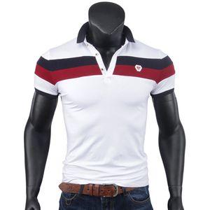 Nuevos Polos transpirables Hombres Marca Algodón Blanco Rojo Verano Top Polos de manga corta Slim Fit Haoyu Poloshirt Tees Tallas grandes al por mayor