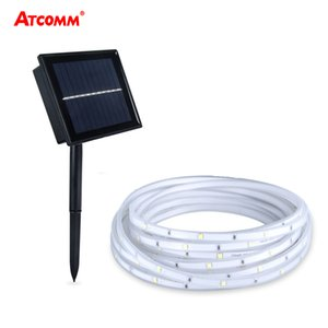 2835 RGB Solar LED Strip Lawn Lamp 5 Meters IP68 Waterproof 100 LEDs 2 Modes Outdoor Garden Landscape Lighting