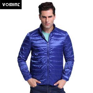 Vomint 2018 Yepyeni erkek Ördek Aşağı Ceket Çift taraflı Ultralight Ceket 90% Tüy Ince Kış Ceket 3XL 4XL Erkek