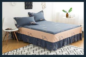 Новые постельные принадлежности 100% енот Maress обложка Твин полный queen size 1 шт. кровать юбка с эластичной кровать обложка кровать юбка покрывало