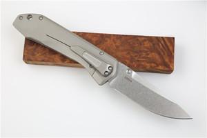 De gama alta 761 cuchillo plegable del bolsillo S35VN Stone Wash lámina TC4 aleación de titanio maneta del volante Bearking Cuchillos