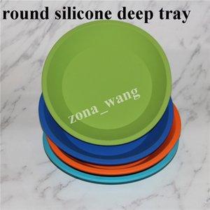 Оптовая новое круглое блюдо и квадратная форма пищевой силиконовый контейнер для посуды, Силиконовый глубокий контейнер для пищевых фруктов воск