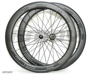 envío libre 700C anchura de 25 mm HED nuevo carbono pintura 60mm negro juego de ruedas ruedas de bicicleta 700C de la bici llena del camino del carbón