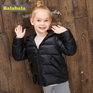 Balabala girls clothes down coat flighty girl down jacket winter hooded thickness coat cartoon style clothes for children