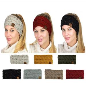 CC Bandeau 7 Couleurs Coloré Confetti Câble Tricot Oreille Plus Chaud Head Wrap Earflaps Cap Bande De Cheveux Chapeaux LJJO4531