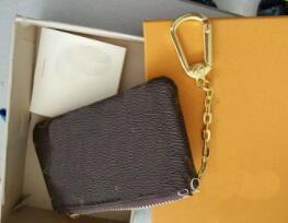 NUEVO KEY POUCH Damier lienzo tiene alta calidad famoso diseñador clásico mujer titular de la moneda monedero pequeño leer con caja de regalo bolsa de savia # 2258