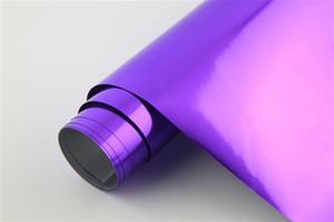 El abrigo púrpura de alta resistencia del vinilo de Chrome del coche del color del 1.52 * 18m con la burbuja de aire libera para el coche