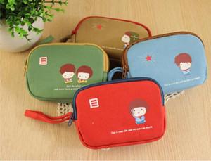 Korean Girls Canvas Coin Bags Women Key Wallets Cute Cartoon Mini Coin Purse Children Kids Gifts