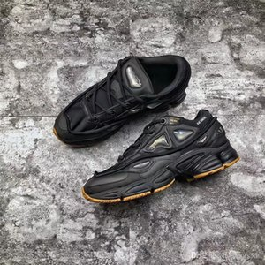 Originais x Raf Simons Ozweego 2 II Coelho Preto Tênis Esportivos Sneakers Para Homens 2018 Autêntica Qualidade S81162 Com Caixa 40-44