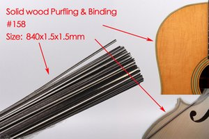 25pcs Guitar Strip Wood Purfling Wood Binding Guitar Body Parts Inlay 840x1.5x1.5mm