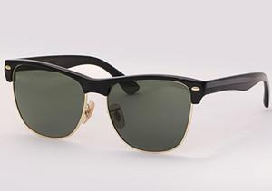 Moda güneş gözlüğü kulüp yarım çerçeve kadınlar erkeklerin marka tasarım Kare güneş gözlüğü açık havada usta sürüş gözlük UV400 gözlük vaka ile