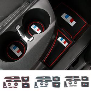 Sportello d'auto Mats Porta Slot Cuscino Porta bicchiere tamponi in gomma per Chevrolet Camaro 2017 UP Accessori auto Interni