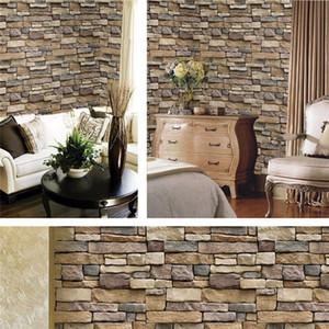 45 * 100см самоклеящийся 3d симуляция вена рок камень узор кирпич обои фона украшения стены наклейки