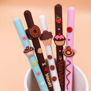 Biscoito De Chocolate Scented Gel Can Silicone Scented Pen 5 pçs / lote