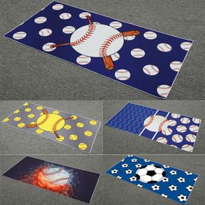 Площадь пляжное полотенце Бейсбол полотенце софтбол футбол спорт полотенце из микрофибры банные полотенца домашний текстиль 150 * 75 см WX9-775
