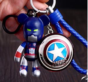 Violent Bear Schlüsselanhänger, Auniquestyle Avengers Allianz Schlüsselanhänger Iron Man Captain America Pfeil Superman Shield Batman Schlüsselanhänger Mode
