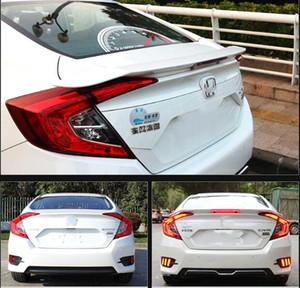 Honda Civic 2016-2018 용 컬러 페인트 리어 윙 스포일러로 고품질의 ABS 소재 강화, 3M 설치