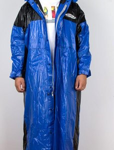 Fashion Slim Reflective PVC Polyester Raincoat Special Sale Waterproof Breathable Reflective Siamese Adult Raincoat