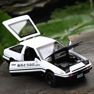 Toyota AE86 1/28 다이 캐스팅 합금 자동차 장난감 (사운드 라이트 포함)