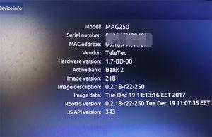 Лучшая прошивка R22 MAG250 Set Top Box Аналогична Mag322 Linux Система потоковой передачи Linux TV Box 256M Media Player Linux 2.6.23