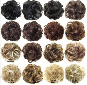 Ring Curly Bride Makeup Bun Flowers Chignon Ponytail Hairpiece Extension Styling Hair Rollers Wigs Accessories 88 SK88