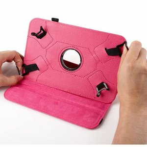 Universal Tablet 7 inch 8 inch 10inch 360 Degree Rotating Flip PU Leather Stand Cover Built-in Card Buckle