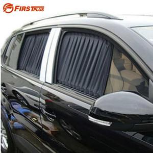 2 x Actualizar 70L Aleación de aluminio Elástico Automóvil Ventana lateral Cortina de la sombrilla Viseras parasol - Negro / Beige / Gris