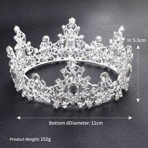 Nuevo barroco Vintage Crystal Boda Tiaras nupcial Hairband Headpiece Gold White Clear Princess Girls Pageant Crown Nupcial accesorios para el cabello