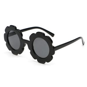 WHO CUTIE Круглые цветочные детские солнцезащитные очки.