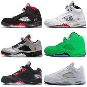 Scarpe da pallacanestro da uomo 5 5s Wings International Flight a buon mercato rosso blu scamosciato bianco nero SUP sneakers sportive da uomo designer scarpe da ginnastica 7-13 # 1