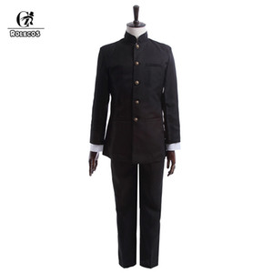 ROLECOS  New Spring Men School Uniform Suit Cosplay Uniform Japanese School Boy Jackets Pants Clothing Set