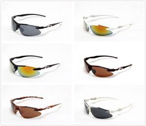 Nuovo Progettista di marca Mezza montatura Drivng Occhiali da sole alla moda per gli uomini All'ingrosso bicicletta pesca occhiali da sole sport all'aria aperta occhiali goccia di vetro nave