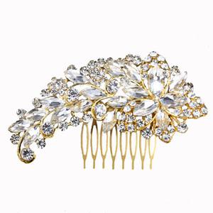 2019 vendita calda FEIS all'ingrosso occhi cavallo placcato in oro con capelli pettinati romantico accessorio da sposa acconciatura da sposa fiore accessorio per capelli