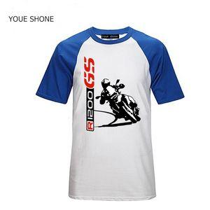 R1200 GS erkek TShirt Moda Yeni Üst Tee gömlek Özel T Gömlek 1200 GS T-SHIRT Motorrad motosikletler 100% Pamuk Tişörtleri Tees Polos