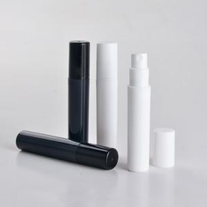 100pcs / lot 2 ml 3 ml 4 ml 5 ml mini bouteille en plastique de parfum en aérosol, petit échantillon noir de promotion atomiseur de parfum