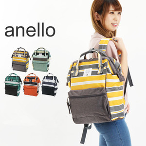 5 Colors New ANELLO Japan Stripe Handle Backpack Campus Rucksack Canvas School Bag Unisex Outdoor Travel Backpack